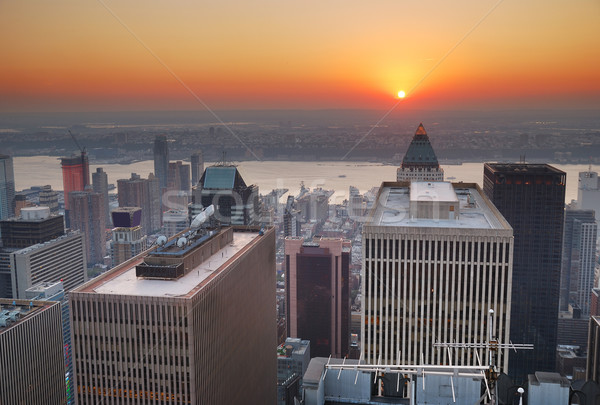 New York City sunset Stock photo © rabbit75_sto