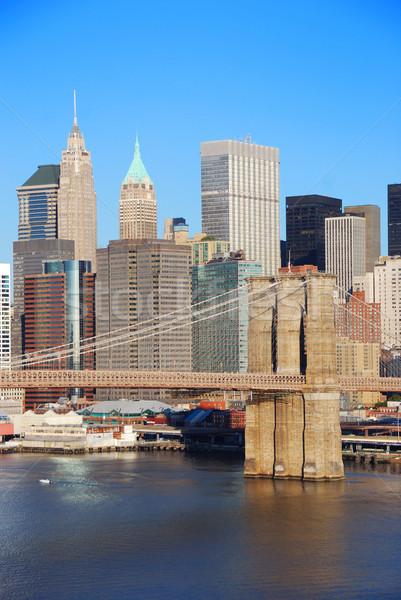 New York City Manhattan skyline with Brooklyn Bridge Stock photo © rabbit75_sto