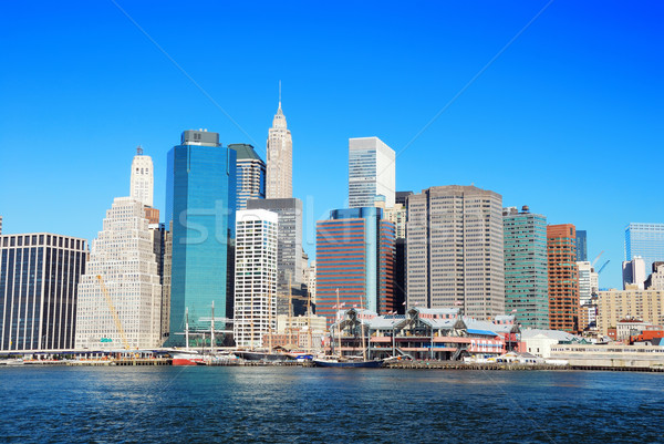 New York City manhattan linha do horizonte panorama manhã arranha-céus Foto stock © rabbit75_sto