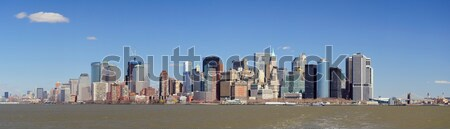 Stedelijke stad panorama New York City Manhattan centrum Stockfoto © rabbit75_sto