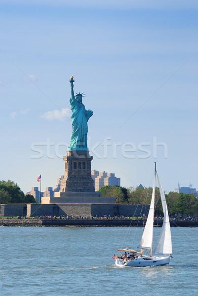 New York City estátua liberdade americano ponto de referência manhattan Foto stock © rabbit75_sto