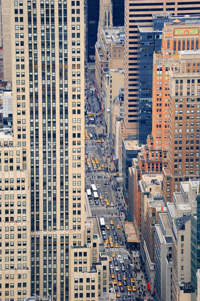 New York City Manhattan strada grattacieli pedonale Foto d'archivio © rabbit75_sto
