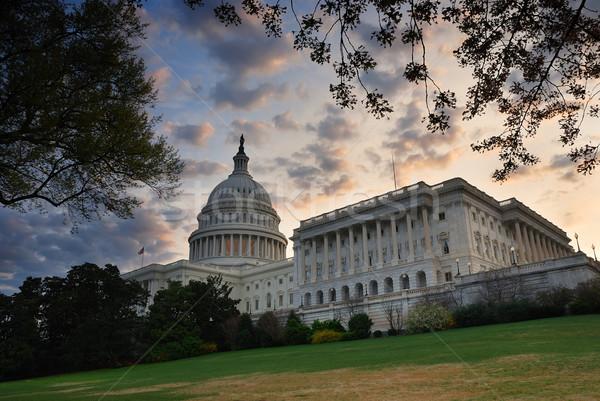 Colina edifício Washington DC manhã colorido nuvem Foto stock © rabbit75_sto