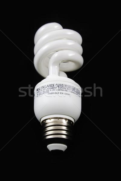 Fluorescente lampadina verticale primo piano nero luce Foto d'archivio © rabbit75_sto