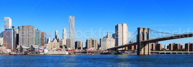 ニューヨーク市 橋 マンハッタン スカイライン パノラマ 高層ビル ストックフォト © rabbit75_sto
