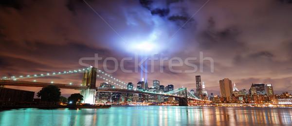 New York City panorama 11 de setembro manhattan ver ponte Foto stock © rabbit75_sto