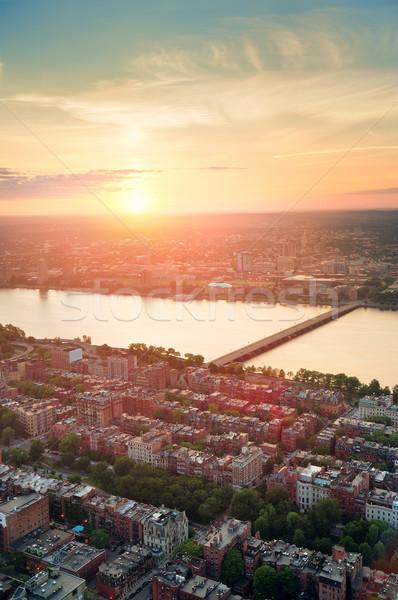 Boston tramonto fiume urbana edifici Foto d'archivio © rabbit75_sto