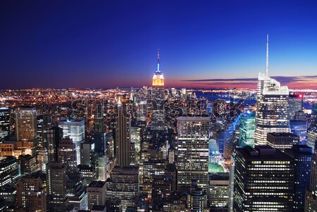 New York City Manhattan skyline tramonto Empire State Building Foto d'archivio © rabbit75_sto
