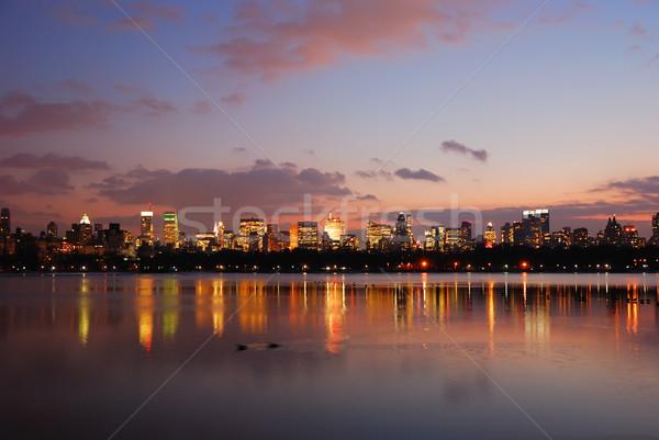 ニューヨーク市 セントラル·パーク スカイライン 夕暮れ 建物 リンゴ ストックフォト © rabbit75_sto