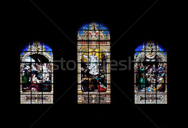 Window art in Boston Trinity Church Stock photo © rabbit75_sto