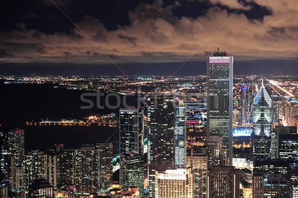Chicago kentsel akşam karanlığı ufuk çizgisi panorama Stok fotoğraf © rabbit75_sto