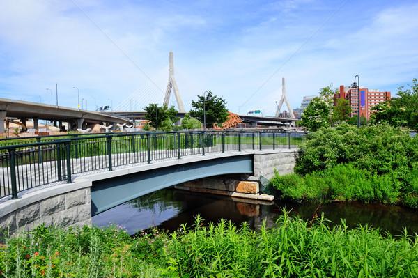 Boston Leonard P. Zakim Bunker Hill Memorial Bridge Stock photo © rabbit75_sto