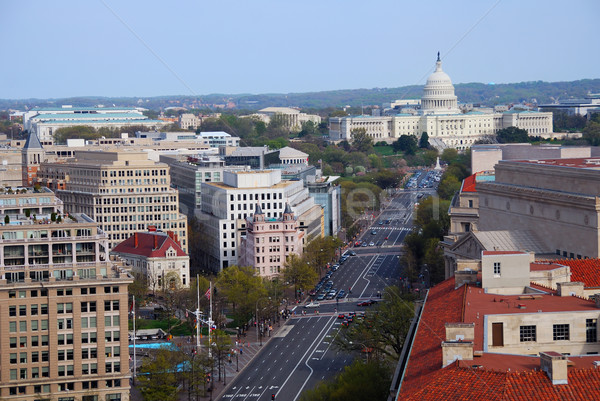 capitol hill building aerial view, Washington DC Stock photo © rabbit75_sto