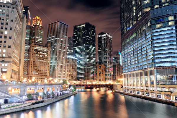 Stock photo: Chicago River Walk