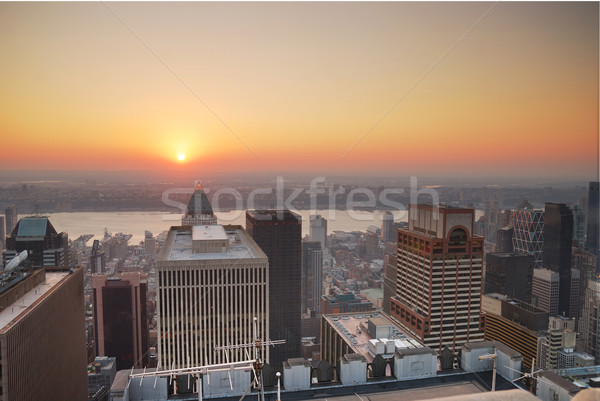 New York City Manhattan sunset Stock photo © rabbit75_sto