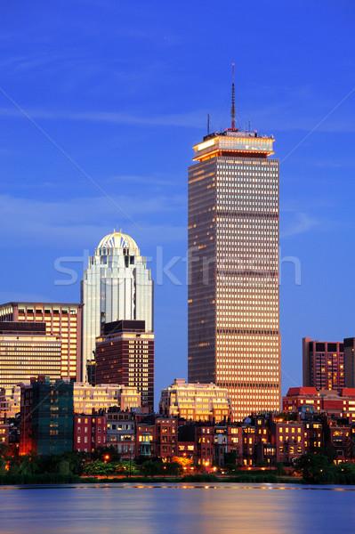 Boston stad stedelijke wolkenkrabbers schemering Stockfoto © rabbit75_sto
