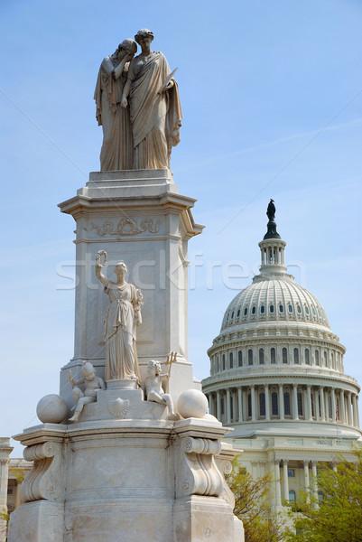 Standbeeld vrede Washington DC heuvel gebouw koepel Stockfoto © rabbit75_sto