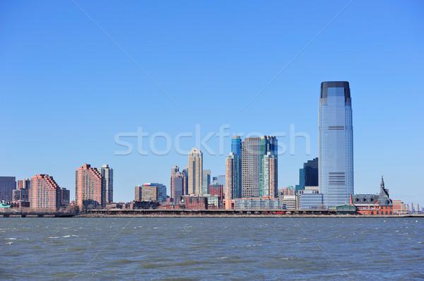 New Jersey ufuk çizgisi gökdelenler nehir New York Manhattan Stok fotoğraf © rabbit75_sto