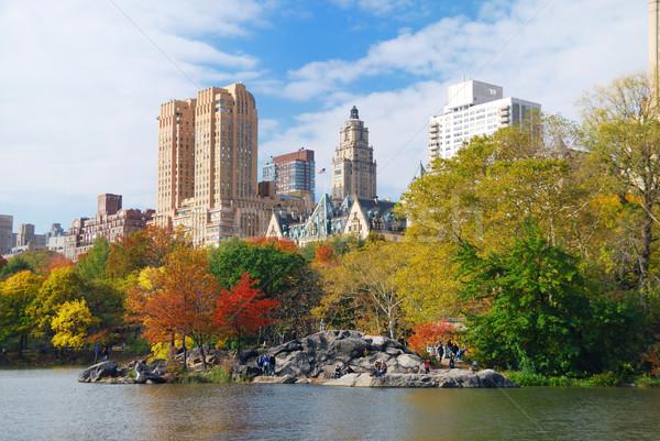 ニューヨーク市 セントラル·パーク 秋 マンハッタン 高層ビル カラフル ストックフォト © rabbit75_sto