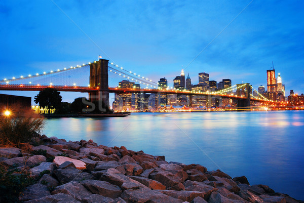 Brooklyn Bridge and Manhattan skyline in New York City Stock photo © rabbit75_sto