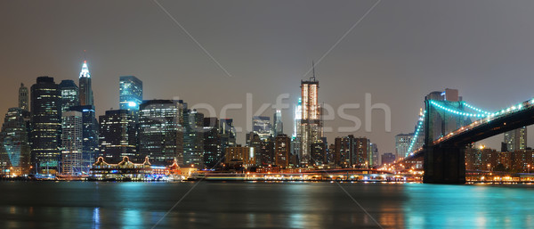 NEW YORK CITY NIGHT PANORAMA  Stock photo © rabbit75_sto