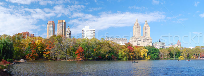 New York City Manhattan Central Park panorama najaar meer Stockfoto © rabbit75_sto