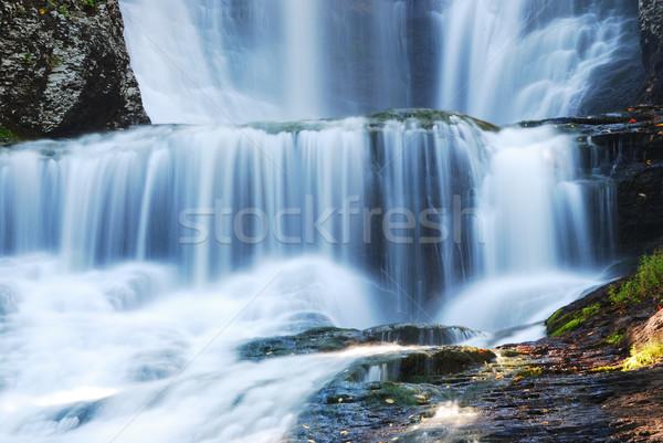 Waterval details boom achtergrond berg Stockfoto © rabbit75_sto