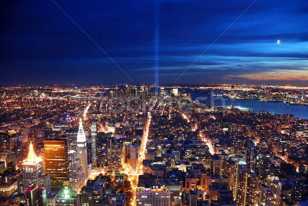 New York City aerial view at night Stock photo © rabbit75_sto