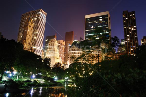ニューヨーク市 セントラル·パーク 1泊 マンハッタン 高層ビル ツリー ストックフォト © rabbit75_sto