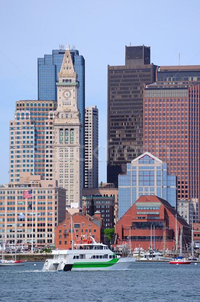 Boston centro de la ciudad urbanas arquitectura barco Foto stock © rabbit75_sto