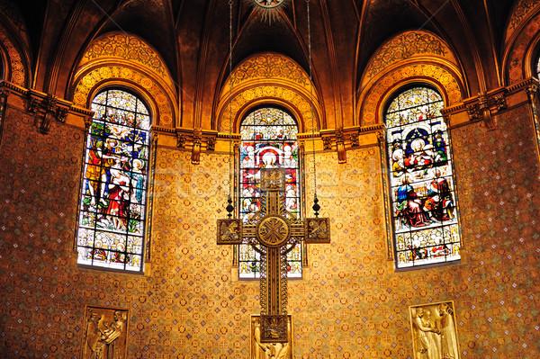 Cross in Boston Trinity Church Stock photo © rabbit75_sto