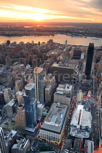 Hudson River sunset New York City Manhattan Stock photo © rabbit75_sto
