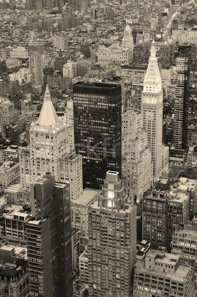 New York City Manhattan downtown in black and white Stock photo © rabbit75_sto
