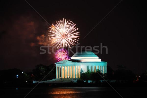 Thomas Jefferson Memorial with firework show. Washington DC Stock photo © rabbit75_sto