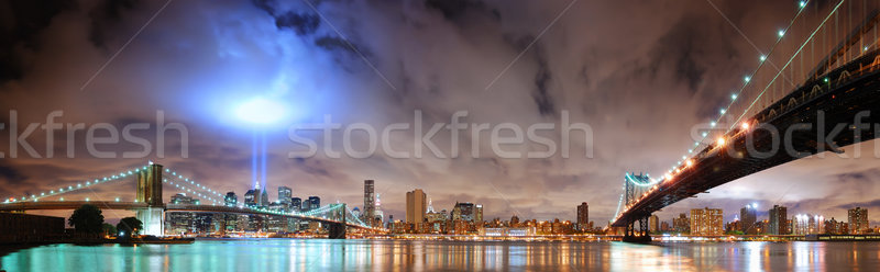 New York City 11 septembre Manhattan panorama vue pont Photo stock © rabbit75_sto