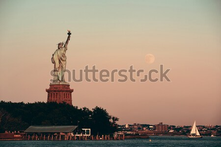 Statue Freiheit New York City manhattan Nacht Licht Stock foto © rabbit75_sto