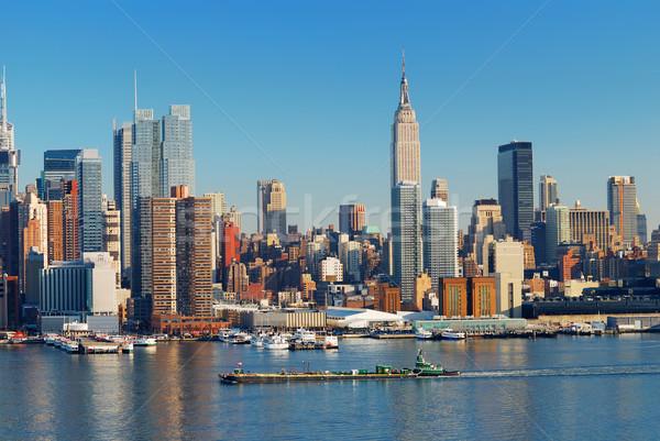 Kentsel Manhattan Empire State Binası New York nehir Stok fotoğraf © rabbit75_sto