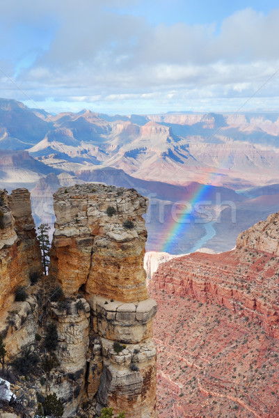 Grand Canyon panorama view inverno neve cielo blu Foto d'archivio © rabbit75_sto