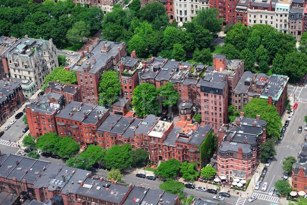 Boston aerial view Stock photo © rabbit75_sto