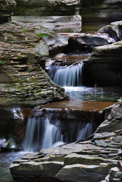 Arroyo montana rocas corriente parque Nueva York Foto stock © rabbit75_sto