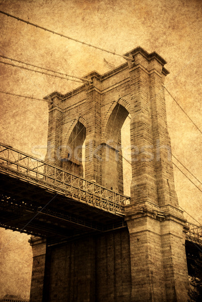 New York City Brücke alten Mode Stil Stock foto © rabbit75_sto