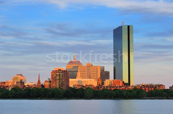 Boston stedelijke rivier zonsondergang hemel Stockfoto © rabbit75_sto
