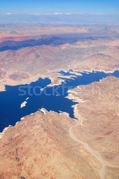 Lake with Mountains Aerial View Stock photo © rabbit75_sto