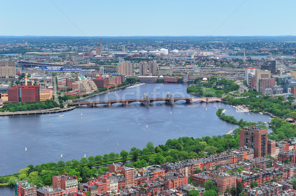 Boston río edificios puente edificio Foto stock © rabbit75_sto