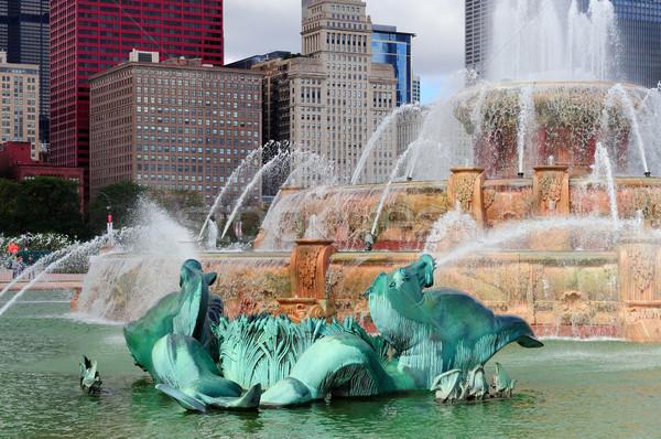 Chicago çeşme ofis kentsel renk Stok fotoğraf © rabbit75_sto