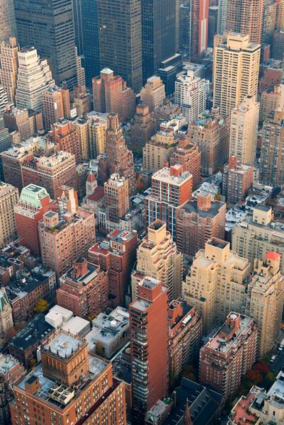 New York City manhattan linha do horizonte rua arranha-céus Foto stock © rabbit75_sto
