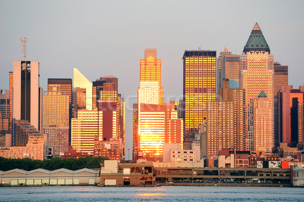 New York City Manhattan at sunset over Hudson River Stock photo © rabbit75_sto