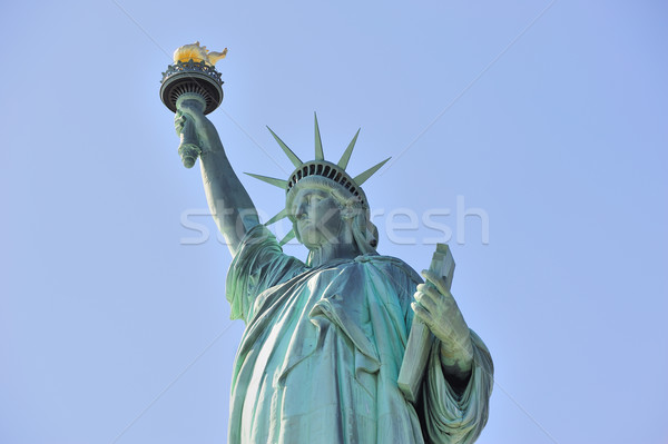 Statue of Liberty closeup  in New York City Manhattan Stock photo © rabbit75_sto