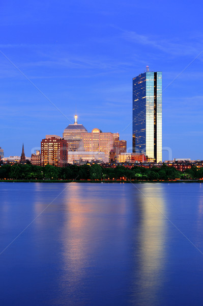 Boston avond rivier schemering stedelijke Stockfoto © rabbit75_sto