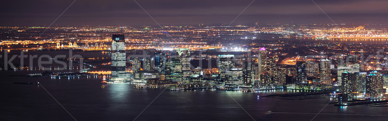 New Jersey nacht panorama New York City Manhattan Stockfoto © rabbit75_sto